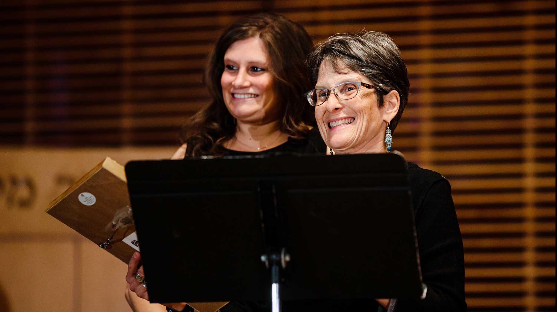 President Anisfeld and Leah Goldstein
