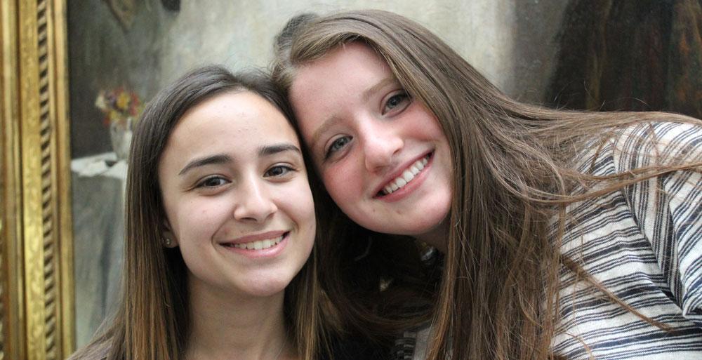 JTFGB - two girls smiling