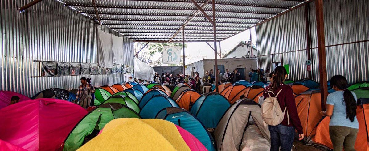 Tijuana refugee shelter