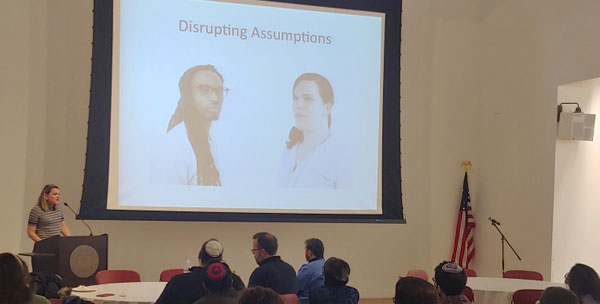 lecturer at disrupting-assumptions presentation