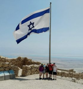 Ulpan student Chana Kutin and family in Israel.