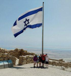 Ulpan student Chana Kutin and family in Israel.