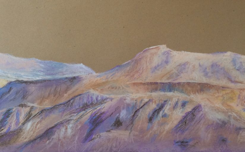pastel of the Negev by Giulia Fleishman