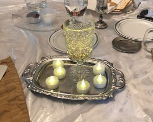 Rabbi Or Rose's seder table