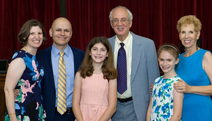parents, grandparents and granddaughters at a Bat Mitzvah