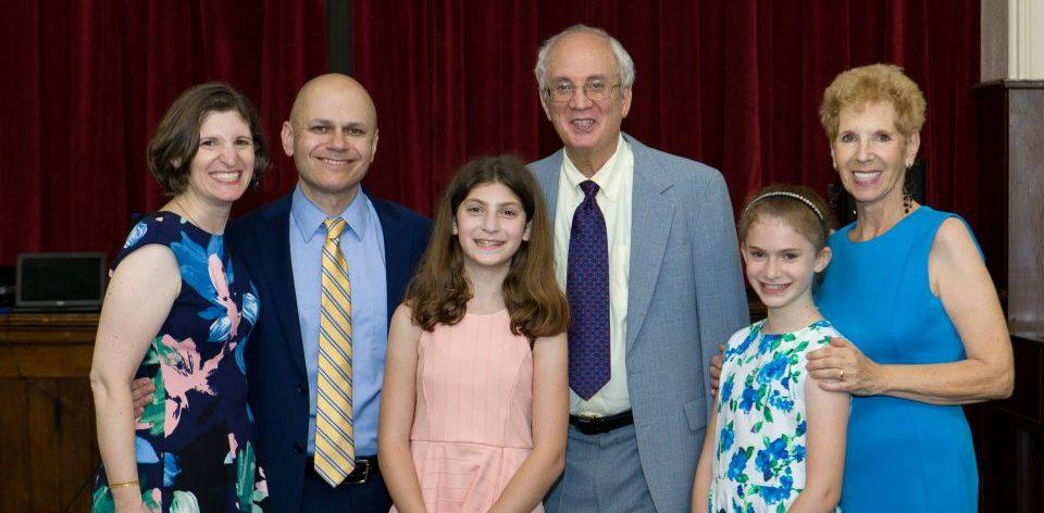 parents, grandparents and granddaughters at a Bat Mitzvah