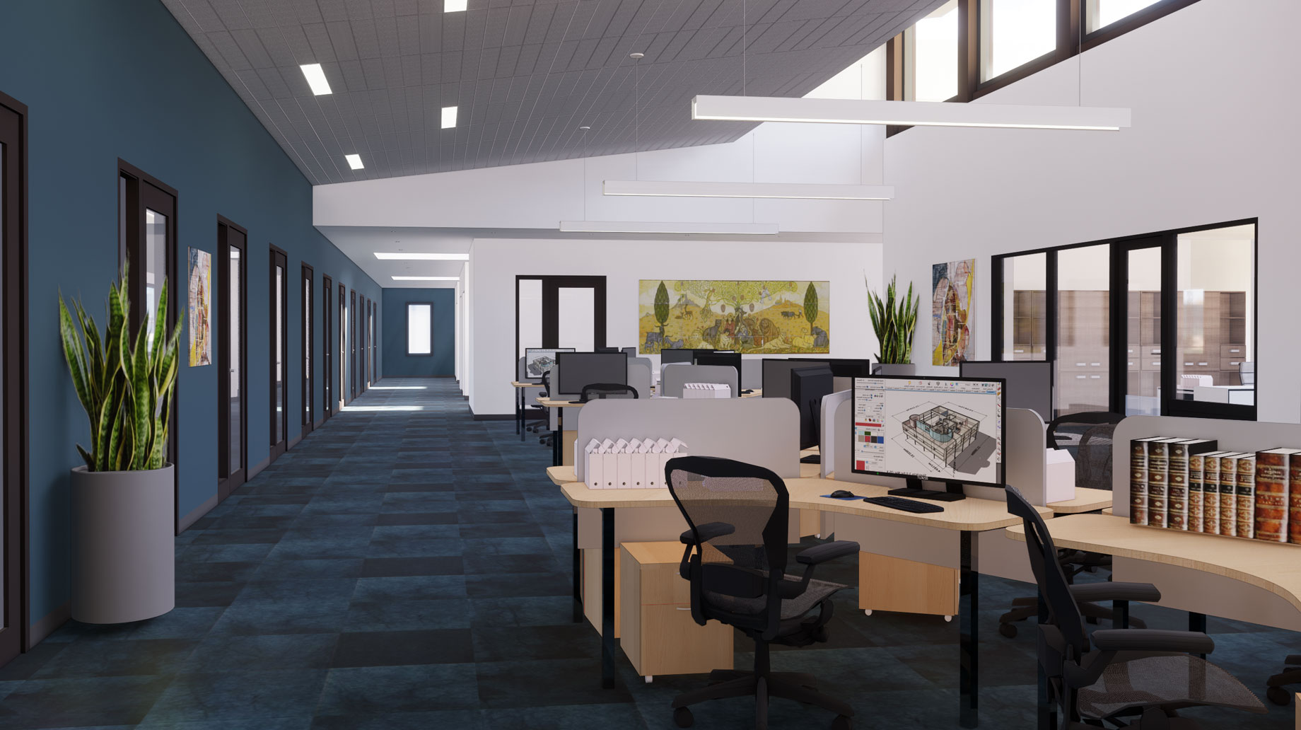 Hebrew College office space rendering