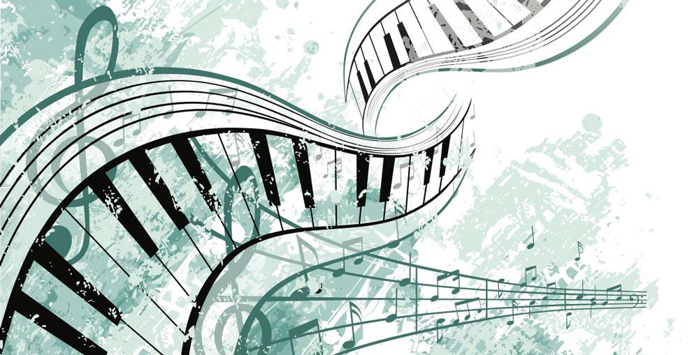 music-piano illustration