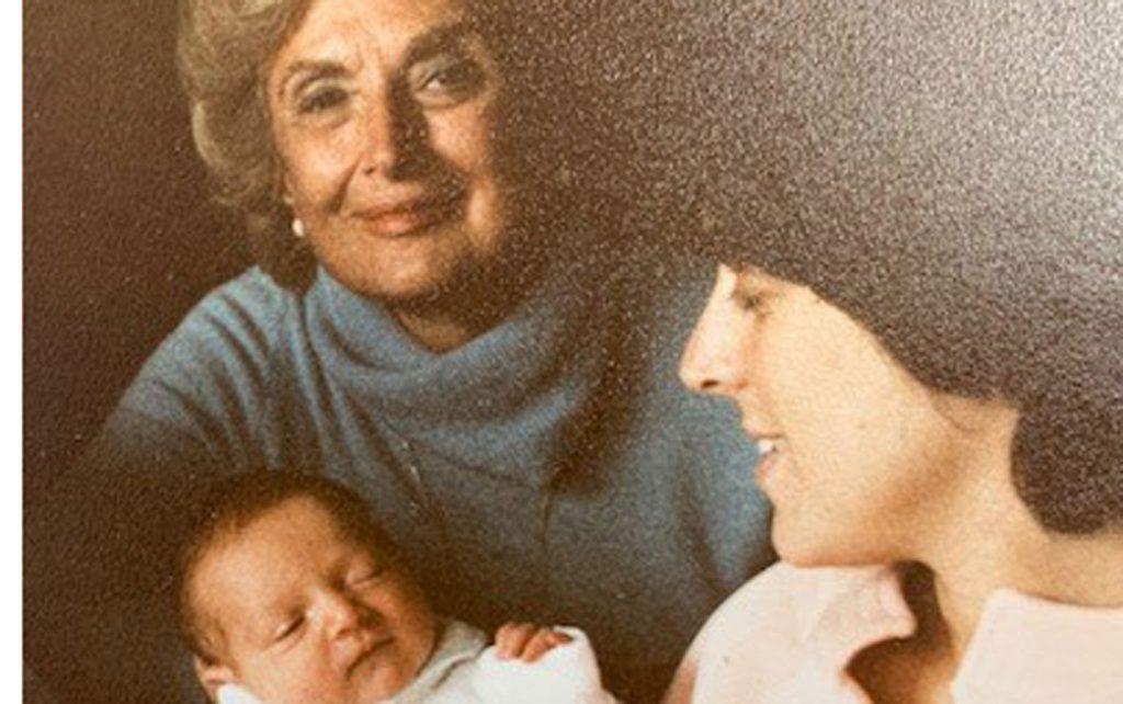 Deb Feinstein, mother, baby (1979)