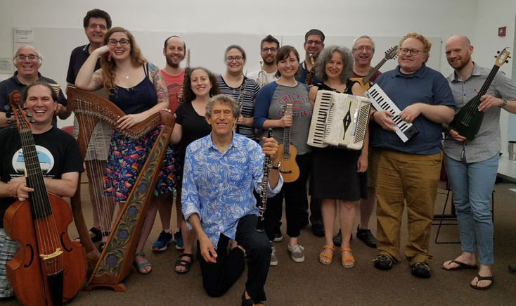 cantorial students with Hankus Netsky