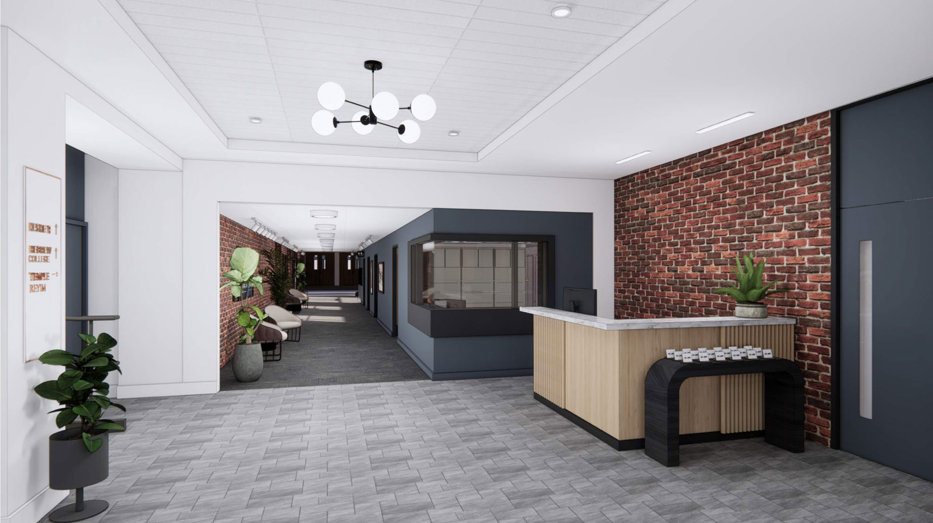 new building lobby rendering