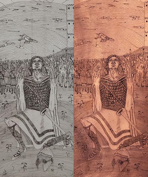 Lauren-Stevens etching